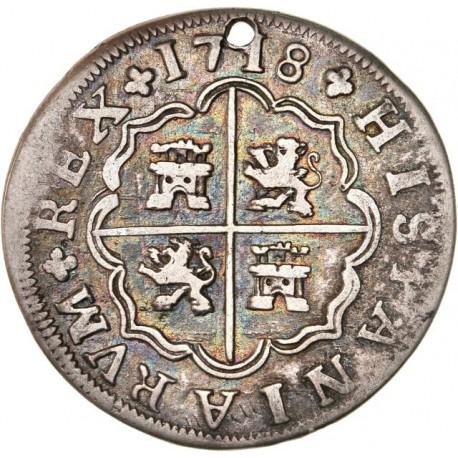 Espagne - 4 réales 1718 Séville