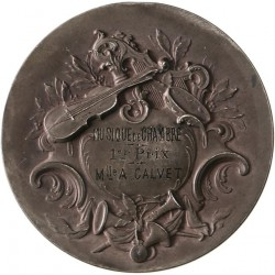 Médaille argent Ecole de Musique de Nîmes