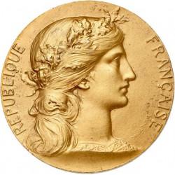 Médaille en argent doré - Ministère de la Guerre