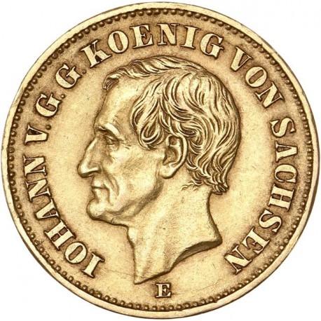 Allemagne - Saxe - 20 mark 1873 E