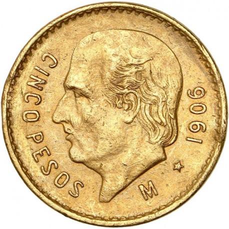 Mexique - 5 pesos 1906