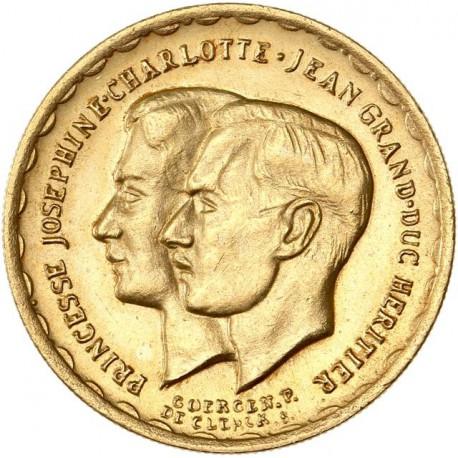 Luxembourg - Médaille de mariage 1953 (module de 20fr.)