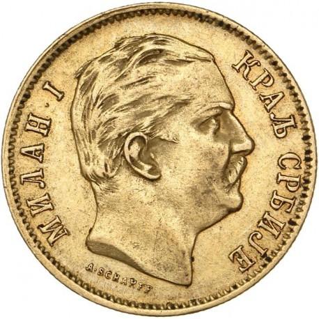 Serbie - 10 dinars 1882