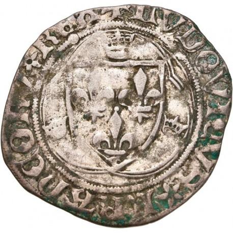Charles VIII - Blanc à la couronne de Saint Lô