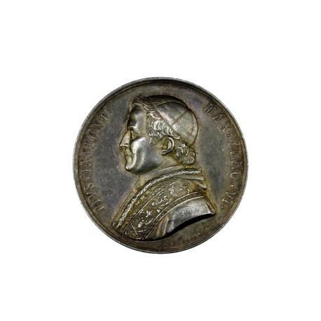 Vatican - Pie IX - médaille en argent - Pont d'Ariccia