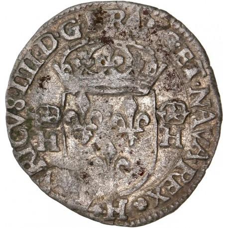 Henri IV - Douzain aux H - 1591H La Rochelle