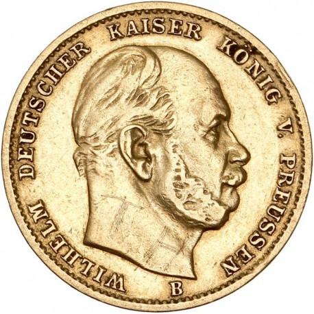 Allemagne - Prusse - 10 mark 1873 B