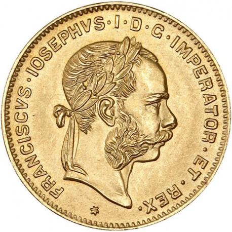 Autriche - 10 francs / 4 florint 1892 (refrappe)