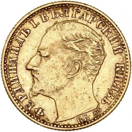 Bulgarie - 10 Leva Ferdinand Ier 1894