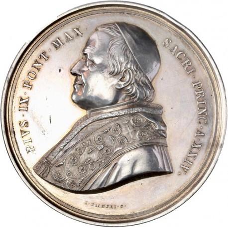Vatican - Médaille argent Pie IX - Concile du Tibi Dabo 1869