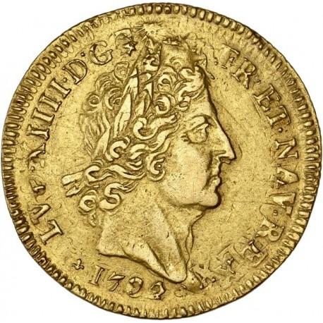 Louis XIV - Louis d'or aux 8 L et aux insignes 1702 K Bordeaux