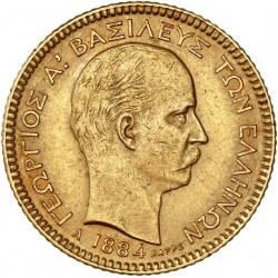 Grèce - 20 drachme 1884 A