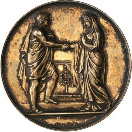 Médaille de mariage en argent (Grand module)