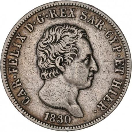 Italie - 5 lires Charles Albert - 1830 Gênes