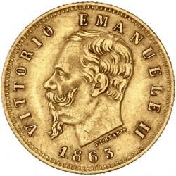 5 lires Victor Emmanuel II 1863 Turin