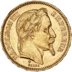 20 francs Napoléon III - 1865 BB