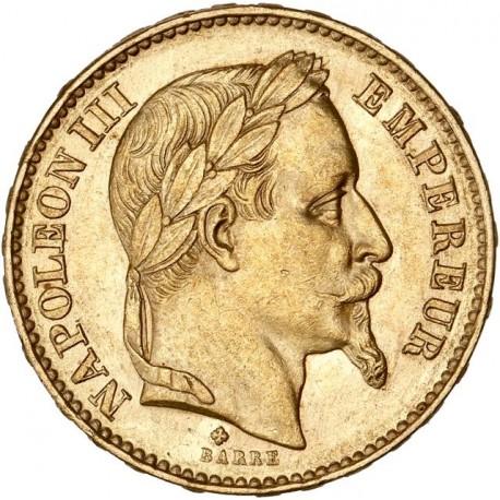 20 francs Napoléon III - 1869 BB