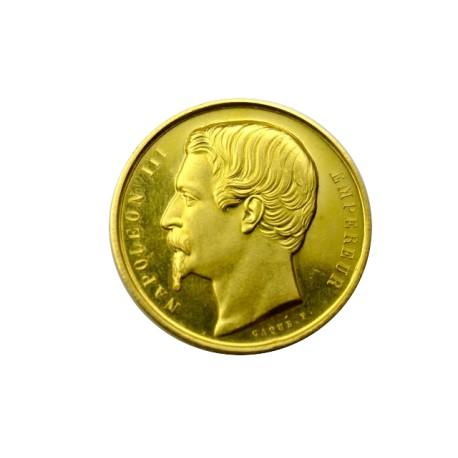 Médaille en or - Ministère de l'agriculture, du commerce et des travaux publics - 1860 CAEN
