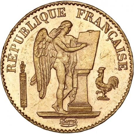 20 francs Génie 1890 A