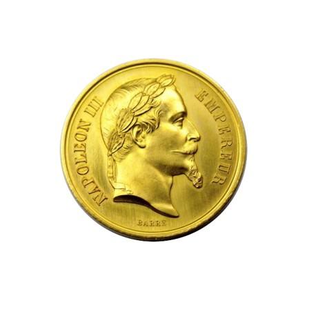 Médaille en or - Ministère de l'agriculture, du commerce et des travaux publics - 1867 CAEN