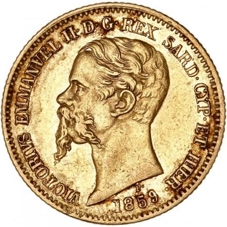 Italie - Sardaigne - 20 lires Victor Emmanuel II 1859 P