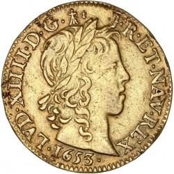 Louis XIV - Louis d'or à la mèche longue - 1653 X Amiens