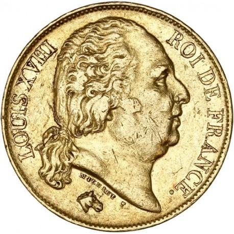 20 francs Louis XVIII 1817 Q Perpignan