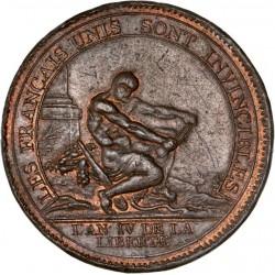 Monneron de 5 sols à l'hercule - 1792