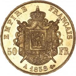 50 francs Napoléon III 1858