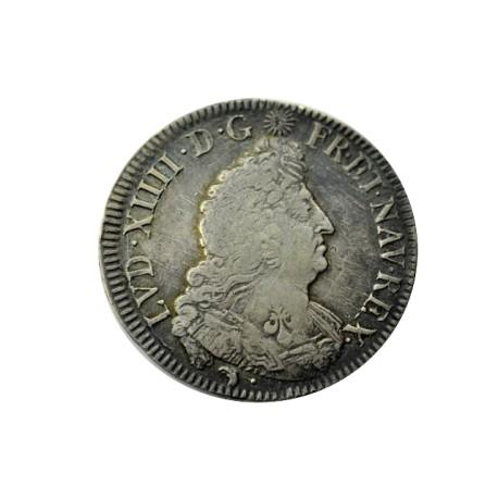 Louis XIV - demi écu aux palmes 1694 D