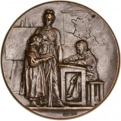 Médaille de récompense certificat d'étude primaire de Levallois - Perret