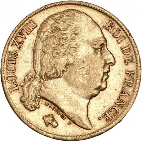 20 francs Louis XVIII - 1820 A