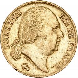 20 francs Louis XVIII - 1818 W