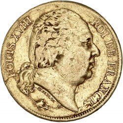 20 francs Louis XVIII 1817 L Bayonne