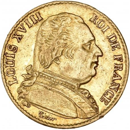 20 francs Louis XVIII 1815 W