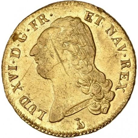 Louis XVI - Double Louis 1786 T Nantes
