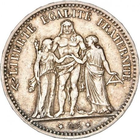 5 francs Hercule 1878 K