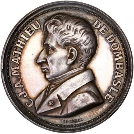 Médaille argent C.J.A Mathieu de Dombasle - Société d'agriculture de Chalon sur Saône