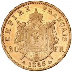20 francs Napoléon III - 1865 A