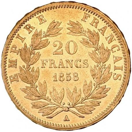 20 francs Napoléon III 1858 A Paris