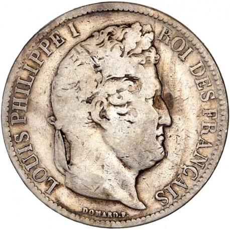 5 francs Louis Philippe Ier 1831 D (tranche en creux)