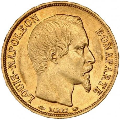 20 francs Louis-Napoléon - 1852 A