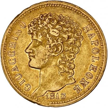 Italie - Naples et les deux Siciles  - 40 lires Joachim Napoléon 1813