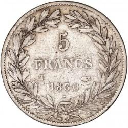 5 francs Louis Philippe Ier 1830 T