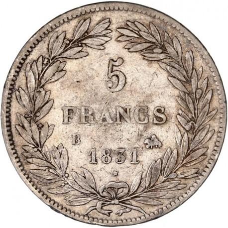 5 francs Louis Philippe Ier 1831 B