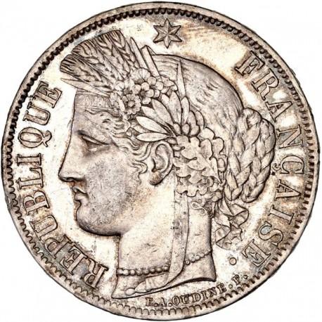5 francs Cérès 1851  A