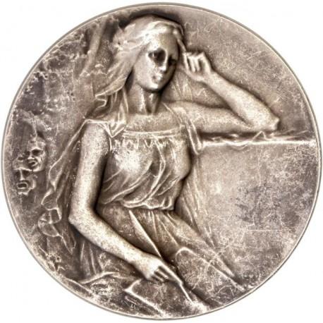 Médaille argent Ligue de l'enseignement (Pont Audemer)