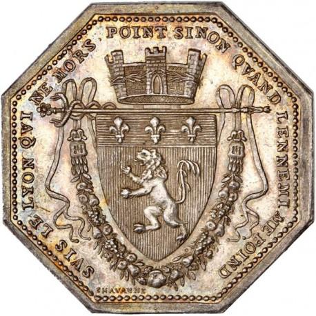 Jeton argent octogonal Chambre du Commerce de Lyon