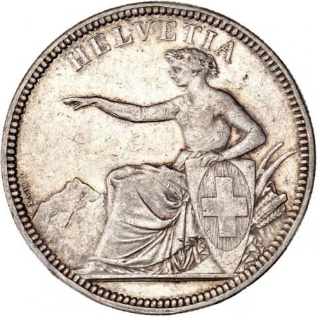 Suisse - 5 francs Helvetia 1874 B