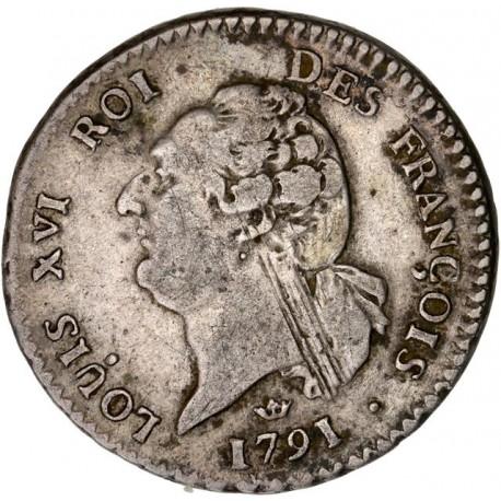 Louis XVI - période constitutionnelle - 15 sols françois 1791 M